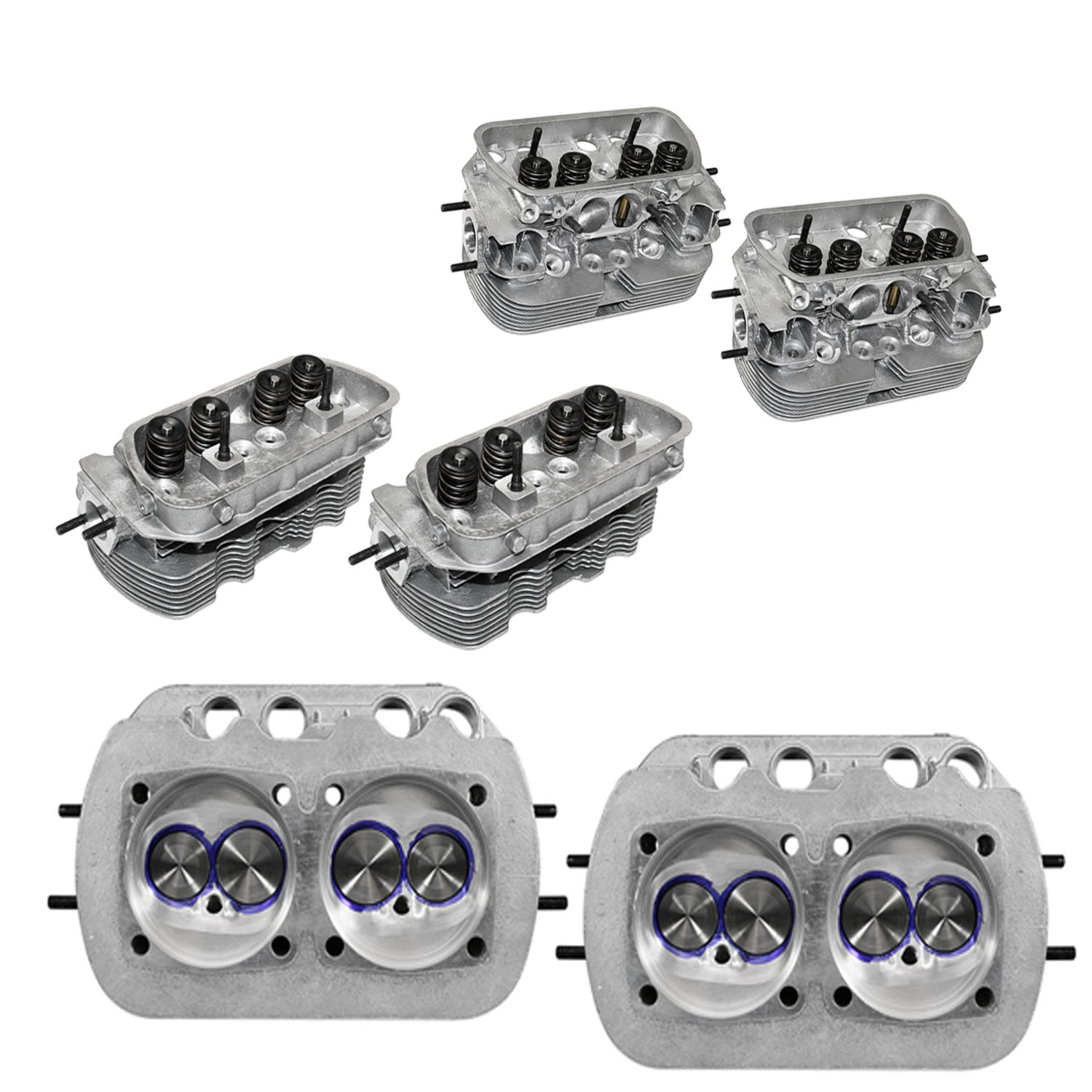 Kühltek Motorwerks Steve Tim's Ported & Polished Performance Cylinder Heads