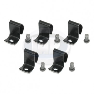 Hub Cap Clip Set - With Rivets; 5 Pieces