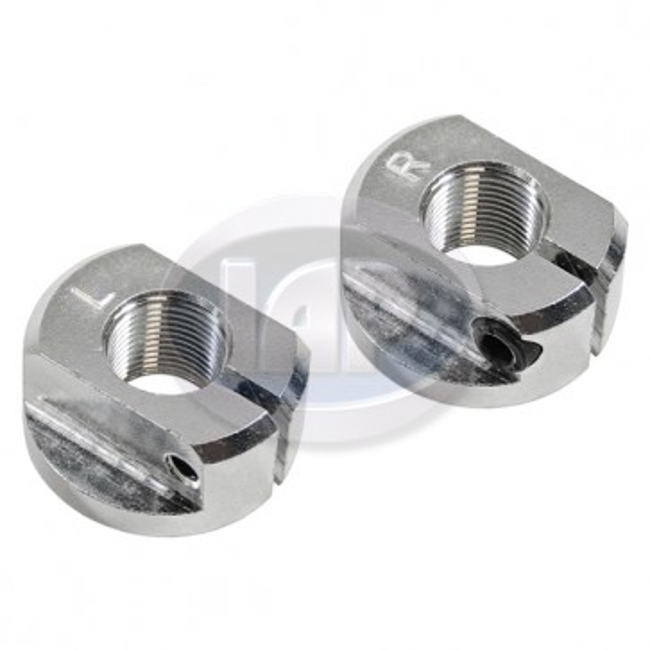 Aluminum Billet Spindle Nuts T-1 49-65 - Pair (Display Pack)