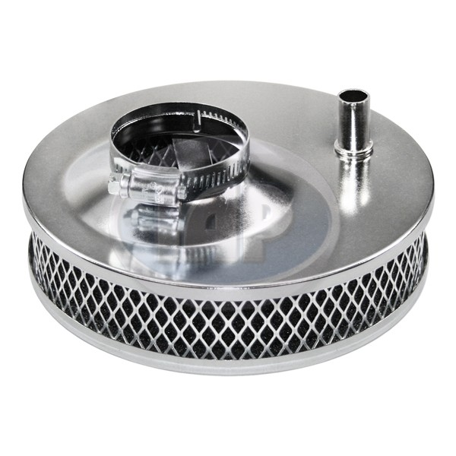 Foam Air Cleaner : Chrome air cleaner foam f stock carb inch dia