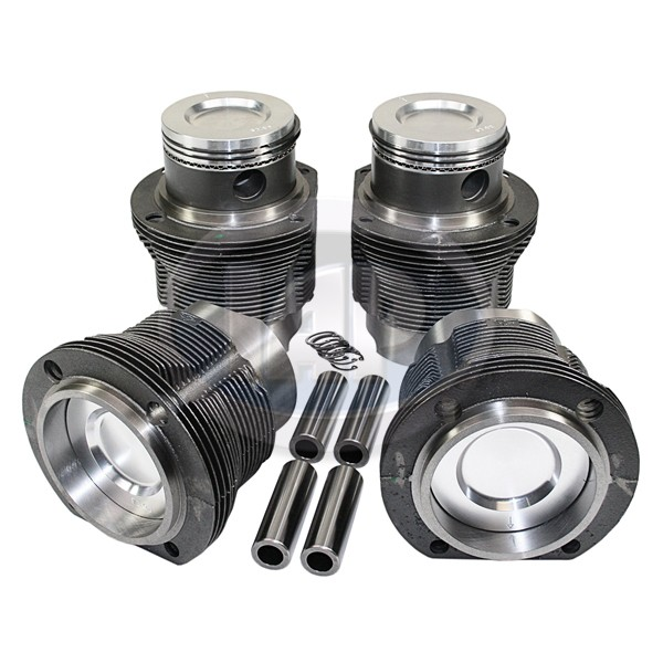 Aa type 4 piston and liner set 94x71mm hyperutectic for for Piston type air motor
