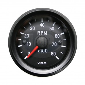"VDO Cockpit Series 2 1/16"" Mini 8000 RPM Tachometer w/o cup"