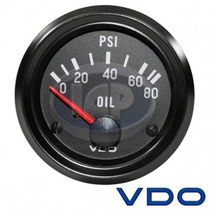 "VDO Cockpit Series 2 1/16"" 80 PSI Oil Pressure Gauge"