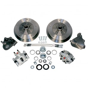 Disc Brake Kit Front L/P - Drop Spindles - T-1, Karmann Ghia 5 x 205 Bolt Pattern