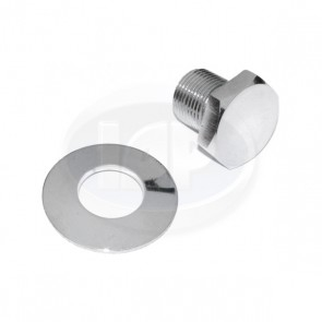 Chrome Crankshaft Pulley Bolt - With Washer