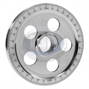 Stock Size Aluminum Pully 5 Hole- Black Numbers ( Display Pack )
