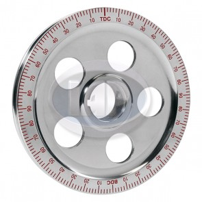 Stock Size Aluminum Pulley Red Numbers Polished 5-Hole ( Display Pack )