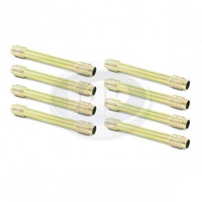 Push Rod Tube Set - Gold / Zinc Plated; 8 Pieces