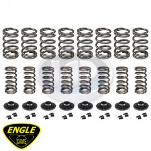 Engle Hi-Rev Kit D/Spring Dual Springs-Chromoly Retainers-Keepers
