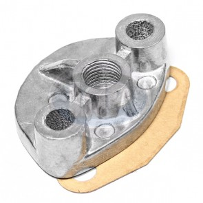 Cast Fuel Pump Block Off 10-5625