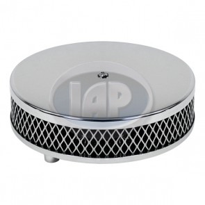 Chrome Air Cleaner FOAM F/Stock Carb 6 3/8 Inch Dia ( Display Pack )