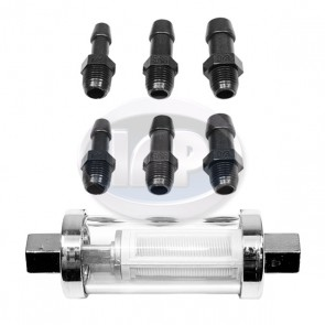 Glass/Chrome Fuel Filter ( Display Pack )