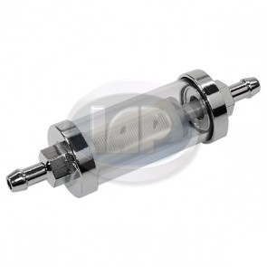 Fuel Filter - Glass / Chrome; Display Pack