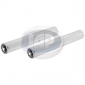 Stainless Steel Tail Pipes-PAIR ( Display Pack )