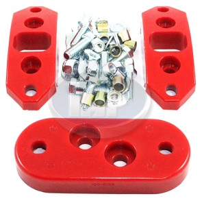 22-3040 Red Urethane Kit Front/Rear Solid Trans Mounts ( Bulk Pack )