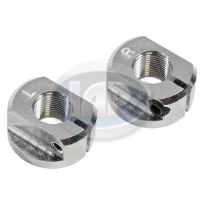 Aluminum Billet Spindle Nuts T-1 49-65 - Pair (Display Pack)