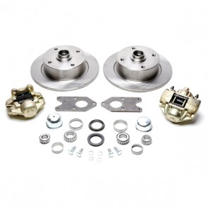 Disc Brake Kit Front L/P - Stock (No Spindles) - T-1, Karmann Ghia  4 x 130 Bolt Pattern