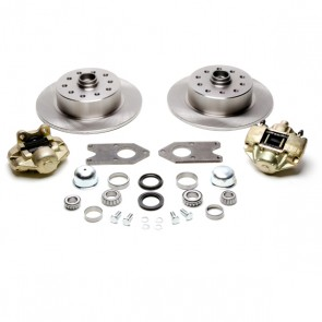 Disc Brake Kit Front, Fits Stock Drum Spindles - T-1, Karmann Ghia 5 x 4.5 / 5 x 4.75 Ford / Chevy Bolt Patterns