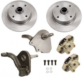 Disc Brake Kit Front L/P - Drop Spindle - T-1, Karmann Ghia 4 x 130 Bolt Pattern