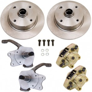 Disc Brake Kit Front Ball Joint  - Stock Spindles - T-1, Karmann Ghia 4 x 130 Bolt Pattern