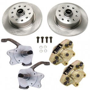 Disc Brake Kit Front Ball Joint - Stock Spindles - T-1 Standard, Karmann Ghia 5 x 4.5 / 5 x 4.75 Ford / Chevy Bolt Patterns