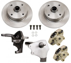 Disc Brake Kit Front Ball Joint - Drop Spindles - 4 x 130 Bolt Pattern