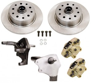 Disc Brake Kit Front Ball Joint - Drop Spindle - 5 x 4.5 / 5 x 4.75 Ford / Chevy Bolt Patterns
