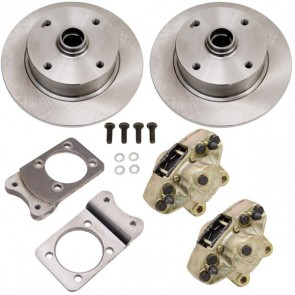 Disc Brake Kit Front - Stock (No Spindles) - Super Beetle 4 x 130 Bolt Pattern