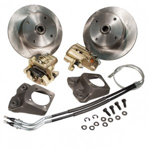 "Disc Brake Kit Rear - Swing Axle ""Short Spline Axle"" to mid 67 - E-Brake - 4 x 130 Bolt Pattern"