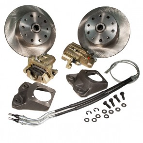 "Disc Brake Kit Rear - Swing Axle ""Short Spline Axle"" to mid 67 - E-Brake - 5 x 130 / 5 x 112 Bolt Pattern"