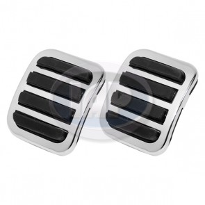 Chrome Clutch/Brake Pedal Cover Kit PAIR ( Display Pack )