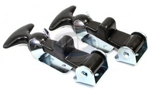 Baja Style Rubber Hood Latches PAIR ( Display Pack )