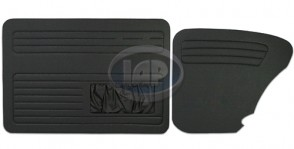 Door Panel Kit Front & Rear T-1 67-77 BLACK W/ POCKET