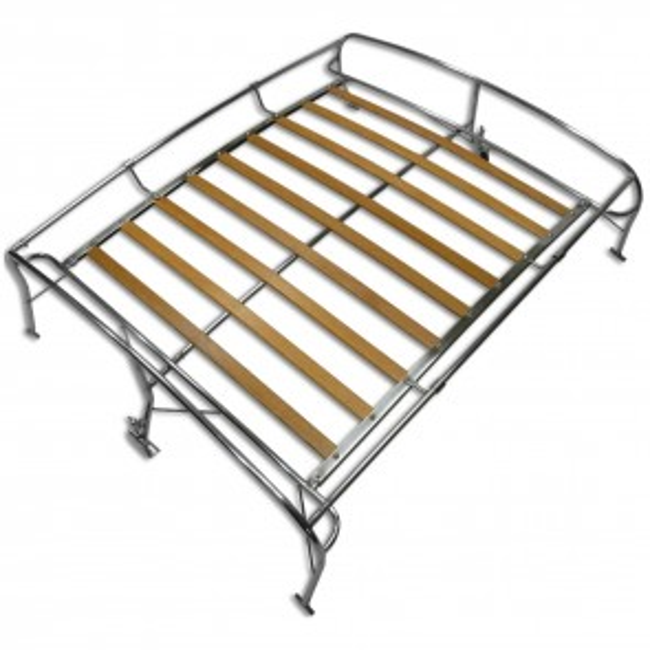 Roof Rack - Stainless Steel / Wood Slats