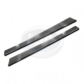 Running Board Pair - Billet; Black