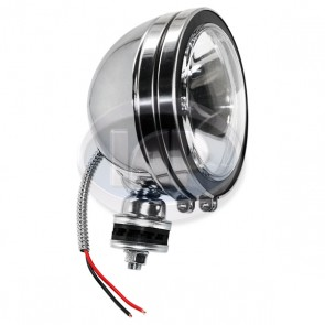 Clear H3 Lamp 6 Inch 100W Spot Chrome Housing Offroad