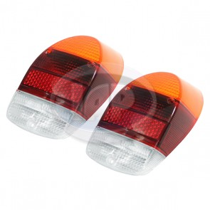 Euro Lens Red/Yellow/Clear Pair Skin Packed