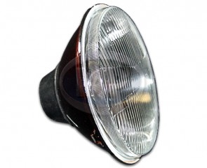 "H4 Halogen Headlight - 7""; 12 Volt; Flat Lens"
