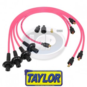 Taylor 8mm Pink Spiro-Pro Ignition Wire Set - Display Pack