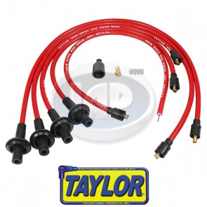 """Taylor 10.4mm Red """"409"""" Spiro Pro Race Ignition Wire Set - Bulk Pack"""