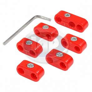 Ignition Wire Separators - Red; Bulk Pack