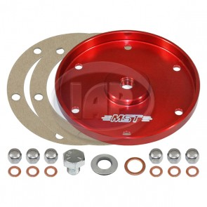 MST Billet Oil Sump Cover Plate - Anodized Red