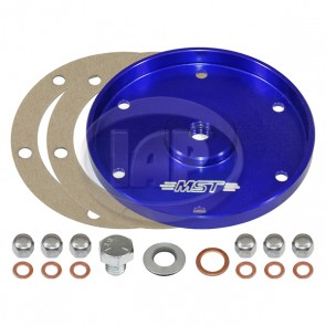 MST Billet Oil Sump Cover Plate - Anodized Blue