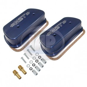 MST Billet Valve Cover Set Vented - Anodized Blue