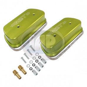 MST Billet Valve Cover Set Vented - Anodized Green